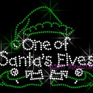 One of Santa's Elves Rhinestone Iron on Transfer Hot Fix Bling Christmas Elf Claus Help - DIY