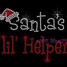 Santa's lil' Helper Rhinestone Iron on Transfer Hot Fix Bling Christmas Santa Hat - DIY