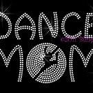 Dance MoM - Dancer Outline Clear Rhinestone Iron on Transfer Hot Fix Bling Sport - DIY