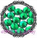 1440 3MM EMERALD Green Rhinestones Iron on Hot Fix 10 gross - 10ss ss10
