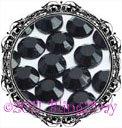 1440 3MM JET Black Rhinestones Iron on Hot Fix 10 gross - 10ss ss10