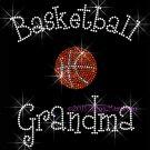 Basketball Grandma - C Rhinestone Iron on Transfer Hot Fix Bling Sports - DIY
