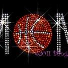 MoM - Basketball Rhinestone Iron on Transfer Hot Fix Bling Sports - DIY