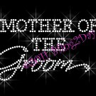 Mother of the Groom - New Rhinestone Iron on Transfer Hot Fix Bling Bridal Bride - DIY