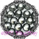 1440 3MM BLACK DIAMOND Rhinestones Iron on Hot Fix 10 gross - 10ss ss10
