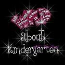Wild about Kindergarten - FUCHSIA Rhinestone Iron on Transfer Hot Fix Bling School Grade Mom - DIY