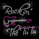 Rock in TuTu Rhinestone Iron on Transfer Hot Fix Bling Mom Kid Tu Tu Cute - DIY