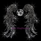 Angel Wings - Soccer Rhinestone Iron on Transfer Hot Fix Bling Sports - DIY