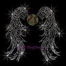 Angel Wings - Softball Rhinestone Iron on Transfer Hot Fix Bling Sports - DIY