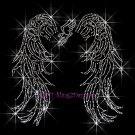 Angel Wings - Track Rhinestone Iron on Transfer Hot Fix Bling Sports - DIY