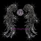 Angel Wings - Volleyball Rhinestone Iron on Transfer Hot Fix Bling Sports - DIY