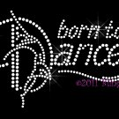 Born to Dance - Dancing Figure Rhinestone Iron on Transfer Hot Fix Bling Sports - DIY