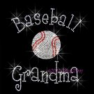 Baseball Grandma - C Rhinestone Iron on Transfer Hot Fix Bling Sports - DIY