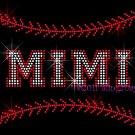 MIMI - Baseball Stitching Rhinestone Iron on Transfer Hot Fix Bling Sports Stitch - DIY