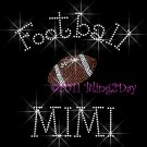 Football MIMI - C - Iron on Rhinestone Transfer Hot Fix Bling Sports - DIY