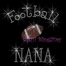 Football NANA - C - Iron on Rhinestone Transfer Hot Fix Bling Sports - DIY