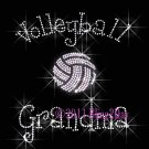 Volleyball Grandma - C - Iron on Rhinestone Transfer Hot Fix Bling Sports - DIY