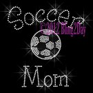 Soccer Mom - C Rhinestone Iron on Transfer Hot Fix Bling Sports - DIY