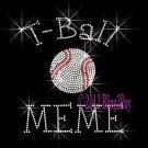 T-Ball MEME - C Rhinestone Iron on Transfer Hot Fix Bling Sports - DIY