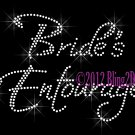 Bride's Entourage Rhinestone Iron on Transfer Hot Fix Bling Bridal Bride - DIY