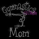 Gymnastics Mom - C Rhinestone Iron on Transfer Hot Fix Bling Sports - DIY