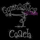 Gymnastics Coach - C Rhinestone Iron on Transfer Hot Fix Bling Sports - DIY