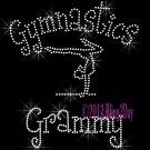 Gymnastics Grammy - C Rhinestone Iron on Transfer Hot Fix Bling Sports - DIY