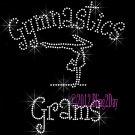 Gymnastics Grams - C Rhinestone Iron on Transfer Hot Fix Bling Sports - DIY