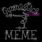 Gymnastics MEME - C Rhinestone Iron on Transfer Hot Fix Bling Sports - DIY