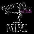 Gymnastics MIMI - C Rhinestone Iron on Transfer Hot Fix Bling Sports - DIY