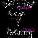 Color Guard Grammy - C Rhinestone Iron on Transfer Hot Fix Bling Sports - DIY
