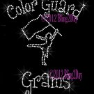Color Guard Grams - C Rhinestone Iron on Transfer Hot Fix Bling Sports - DIY