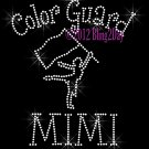 Color Guard MIMI - C Rhinestone Iron on Transfer Hot Fix Bling Sports - DIY