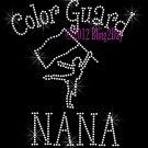 Color Guard NANA - C Rhinestone Iron on Transfer Hot Fix Bling Sports - DIY