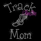 Track Mom - C - Rhinestone Iron on Transfer Hot Fix Bling School Sport - DIY