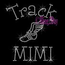 Track MIMI - C - Rhinestone Iron on Transfer Hot Fix Bling School Sport - DIY