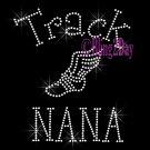 Track NANA - C - Rhinestone Iron on Transfer Hot Fix Bling School Sport - DIY