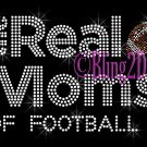 The Real Moms of - Football - Rhinestone Iron on Transfer Hot Fix Bling School Sport - DIY