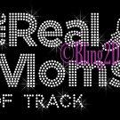 The Real Moms of - TRACK - Rhinestone Iron on Transfer Hot Fix Bling School Sport - DIY