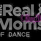 The Real Moms of - DANCE - Rhinestone Iron on Transfer Hot Fix Bling School Sport - DIY
