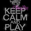 Keep Calm and Play On - HORNETS - Rhinestone Iron on Transfer Hot Fix Bling School Mascot Mom - DIY