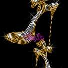 High Heel Set - GOLD - Iron on Rhinestone Transfer Fashion Diva - DIY
