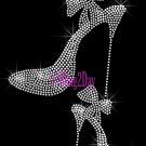 High Heel Set - SILVER - Iron on Rhinestone Transfer Fashion Diva - DIY