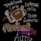 Football Aunt - Touch Down, Support Team - Iron on Rhinestone Transfer Sport Mom - DIY