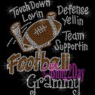 Football Grammy - Touch Down, Support Team - Iron on Rhinestone Transfer Sport Mom - DIY