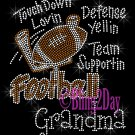 Football Grandma - Touch Down, Support Team - Iron on Rhinestone Transfer Sport Mom - DIY