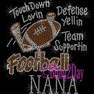 Football NANA - Touch Down, Support Team - Iron on Rhinestone Transfer Sport Mom - DIY