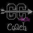 Cross Country Coach - C - Rhinestone Iron on Transfer Hot Fix Bling School Sport - DIY