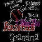 Baseball Grandma - Home Run, Support Team - Iron on Rhinestone Transfer Sport Mom - DIY