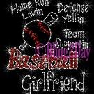 Baseball Girlfriend - Home Run, Support Team - Iron on Rhinestone Transfer Sport Mom - DIY